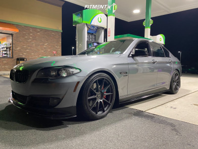 2012 BMW 528i xDrive - 20x9 25mm - Ambit Rs18 - Lowering Springs - 245/35R20