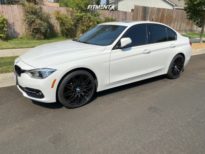 2016 BMW 328i - 19x8.5 35mm - VMR V801 - Stock Suspension - 225/40R19