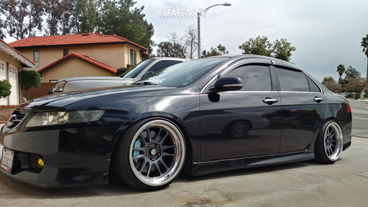 2005 Acura TSX - 18x9.5 10mm - Cosmis Racing XT-206R - Coilovers - 215/35R18