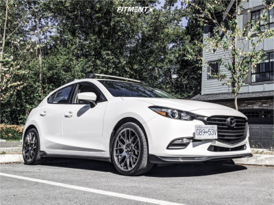 2018 Mazda 3 Sport - 18x7.5 38mm - XXR 530 - Stock Suspension - 225/40R18