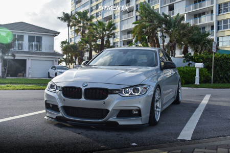 2016 BMW 328i - 19x9 28mm - Apex Arc-8 - Coilovers - 245/35R19