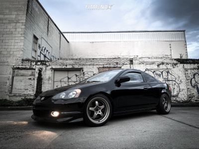 2004 Acura RSX - 17x9 15mm - Ambit RT12 - Coilovers - 215/45R17