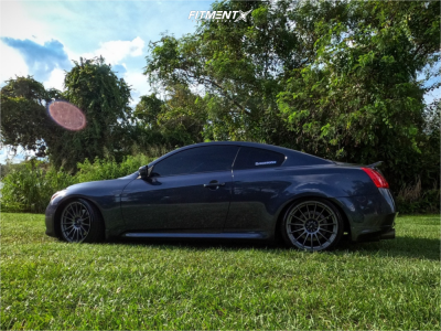 2012 Infiniti G37 - 19x9.5 25mm - Konig Rennform - Coilovers - 245/35R19