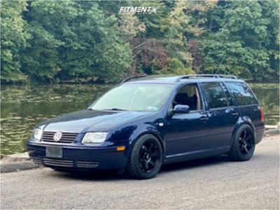 2002 Volkswagen Jetta - 17x9 35mm - MST Mt01 - Coilovers - 235/40R17