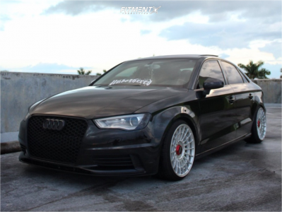 2015 Audi A3 - 18x9.5 35mm - Rotiform Las-r - Coilovers - 215/35R18