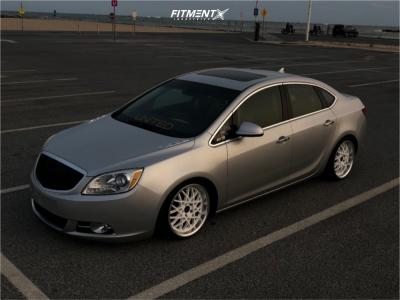 2012 Buick Verano - 18x8.5 35mm - Jnc Jnc016 - Coilovers - 205/35R18