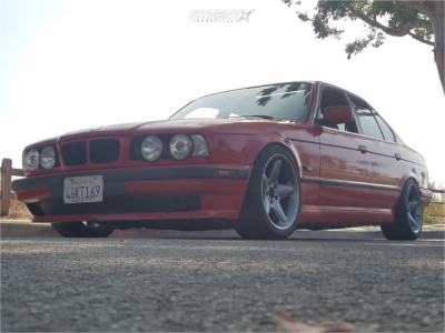 1995 BMW 525i - 17x8.5 20mm - Ac Schnitzer Type 2 - Coilovers - 225/45R17