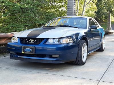 1999 Ford Mustang - 17x9 24mm - SVE Saleen Sc - Lowering Springs - 255/40R17