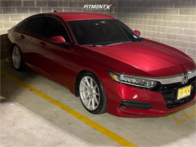 2019 Honda Accord - 18x8.5 45mm - F1R F101 - Lowering Springs - 225/45R18