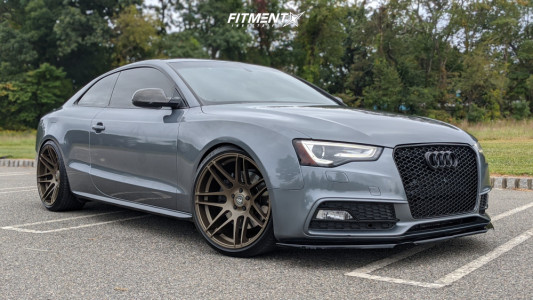 2014 Audi S5 - 20x10.5 10mm - Forgestar F14 - Coilovers - 275/30R20