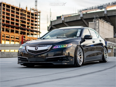 2016 Acura TLX - 18x9.5 35mm - Aodhan Ah09 - Coilovers - 235/40R18