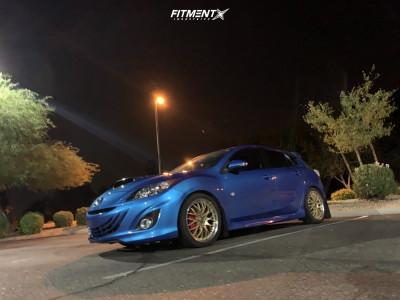 2010 Mazda 3 - 18x7.5 45mm - Drag Dr19 - Lowering Springs - 225/40R18