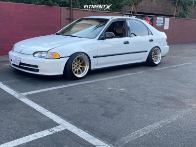 1995 Honda Civic - 15x9 0mm - JNC Jnc003 - Coilovers - 185/45R15