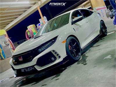 2019 Honda Civic - 18x9.5 45mm - Enkei Ts-5 - Stock Suspension - 275/35R18