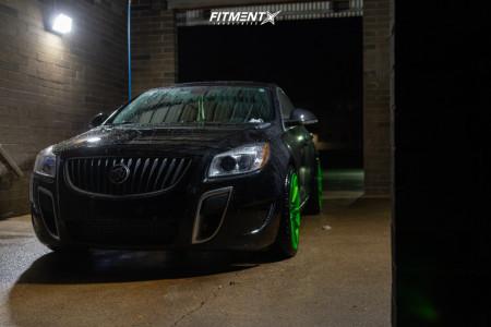 2013 Buick Regal - 20x9.5 25mm - XO Madrid - Stock Suspension - 255/35R20