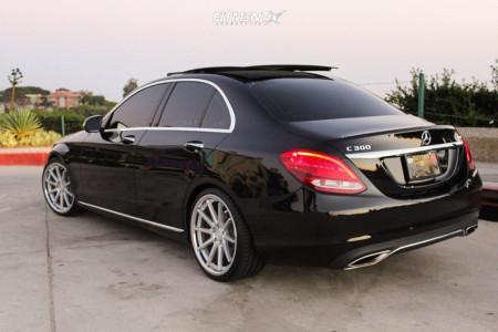 2017 Mercedes-Benz C300 - 19x9.5 35mm - Ferrada Fr4 - Lowering Springs - 225/35R19
