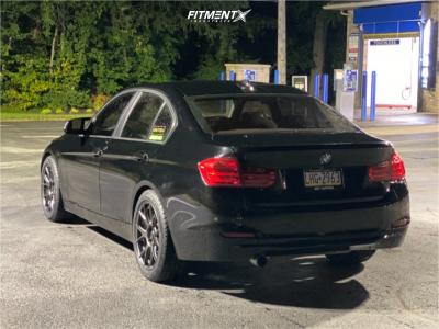 2013 BMW 320i xDrive - 18x8.5 32mm - Konig Ampliform - Stock Suspension - 245/45R18