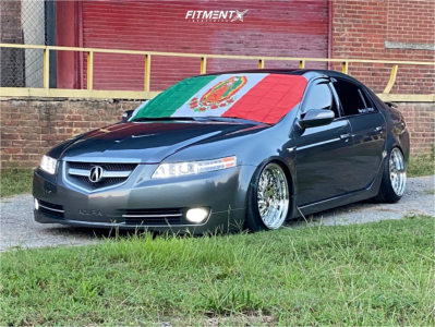 2008 Acura TL - 18x9.5 15mm - Aodhan Ds03 - Coilovers - 225/40R18