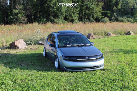 2003 Saturn Ion - 17x9 25mm - Aodhan Ah03 - Coilovers - 215/45R17