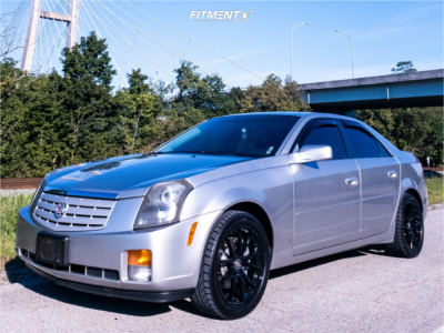 2007 Cadillac CTS - 18x8 35mm - Advanti Racing Hybris - Stock Suspension - 245/40R18
