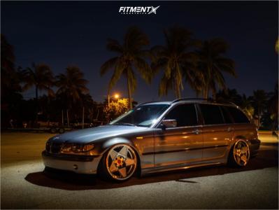 2004 BMW 325i - 18x9.5 40mm - 3SDM 0.05 - Air Suspension - 215/40R18