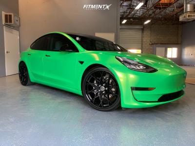 2019 Tesla 3 - 20x9 35mm - HRE FF10 - Lowering Springs - 255/30R20