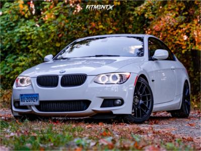 2011 BMW 328i xDrive - 18x8.5 35mm - Aodhan Ah-x - Lowering Springs - 235/40R18