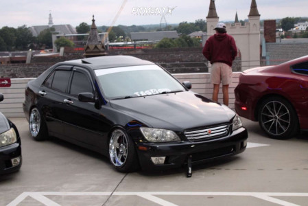 2001 Lexus IS300 - 17x10 20mm - American Muscle Sc Style - Coilovers - 215/40R17