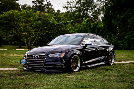 2015 Audi S3 - 18x8.5 35mm - Aodhan Ds06 - Coilovers - 225/40R18