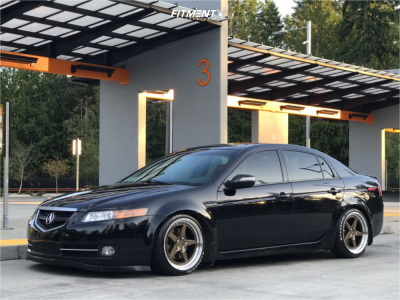 2007 Acura TL - 18x8.5 35mm - Aodhan Ds05 - Coilovers - 215/40R18