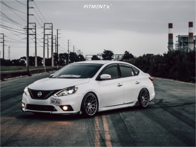 2017 Nissan Sentra - 18x9.5 25mm - Rotiform Rse - Coilovers - 225/40R18