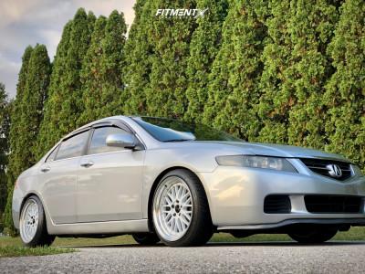 2004 Acura TSX - 18x9 34mm - JNC Jnc005 - Coilovers - 215/40R18