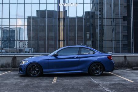 2015 BMW M235i - 18x8.5 36mm - Rays Engineering Te37 - Lowering Springs - 225/40R18