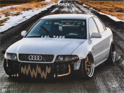 1998 Audi A4 Quattro - 18x9.5 35mm - JNC Jnc010 - Coilovers - 205/35R18