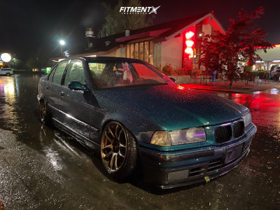 1993 BMW 325i - 17x9 17mm - Work Emotion Cr Kiwami - Coilovers - 205/40R17