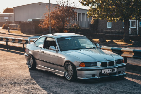 1998 BMW 328i - 17x8.5 20mm - Japan Racing Jr9 - Coilovers - 215/40R17