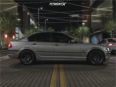 2000 BMW 323i - 18x8.5 35mm - Aodhan Ah-x - Stock Suspension - 235/40R18