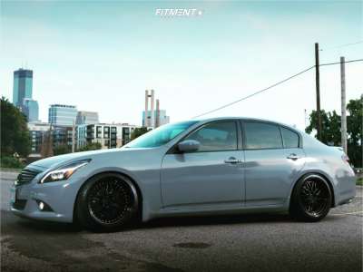 2010 Infiniti G37 - 19x9.5 22mm - Aodhan Ds01 - Stock Suspension - 245/35R19