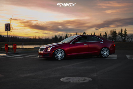 2014 Cadillac ATS - 19x8.5 35mm - Rotiform Las-r - Coilovers - 225/35R19