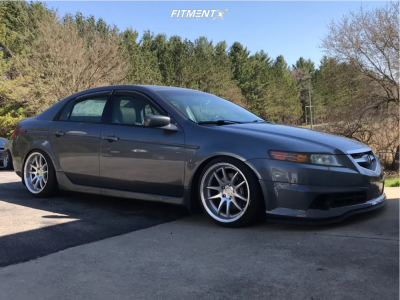 2005 Acura TL - 18x9.5 22mm - Aodhan Ds02 - Coilovers - 215/40R18