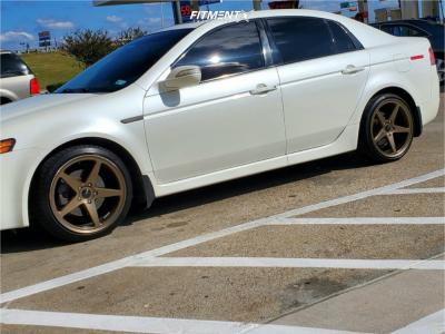 2007 Acura TL - 18x8.5 35mm - Ambit Rt5 - Stock Suspension - 215/40R18