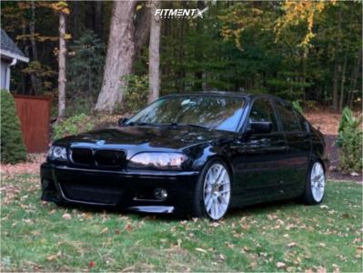 2005 BMW 3 Series - 19x8.5 35mm - Aodhan Ah-x - Coilovers - 235/40R19