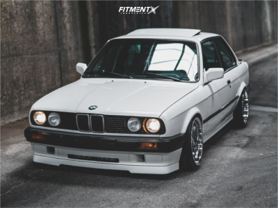 1988 BMW 325i - 17x8 20mm - BMW Style 21 - Coilovers - 185/35R17
