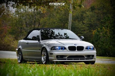 2003 BMW 325Ci - 18x8.5 38mm - F1R F21 - Coilovers - 225/40R18
