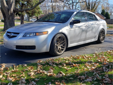 2005 Acura TL - 18x9 30mm - Aodhan Ls008 - Coilovers - 235/40R18