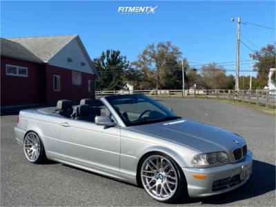 2002 BMW 330Ci - 19x9.5 33mm - VMR V703 - Coilovers - 225/35R19