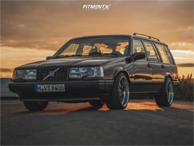 1995 Volvo 940 - 18x9.5 30mm - Borbet Db8gt - Lowering Springs - 245/35R18