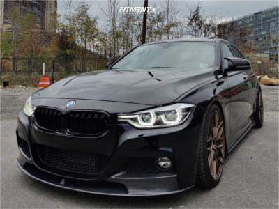 2017 BMW 340i xDrive - 19x8.5 35mm - VMR V802 - Lowering Springs - 225/40R19
