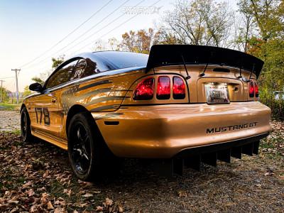 1997 Ford Mustang - 17x9 24mm - American Muscle 1995 Cobra R - Lowering Springs - 275/40R17