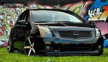 2012 Nissan Sentra - 18x8.5 35mm - Traklite Trak-k - Lowered Adj Coil Overs - 215/35R18